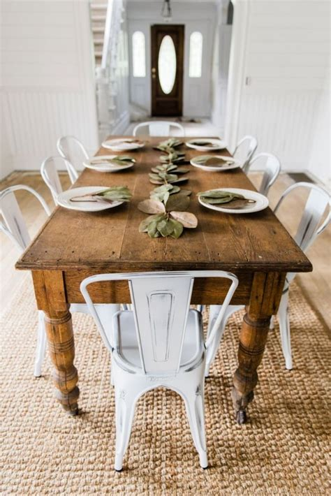 Diy Farmhouse Dining Table And Bench