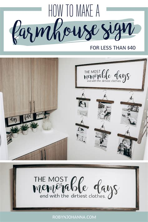 Diy Farmhouse Frame Sign