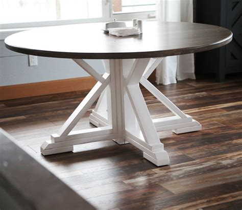 Diy Farmhouse Kitchen Table Plan Round