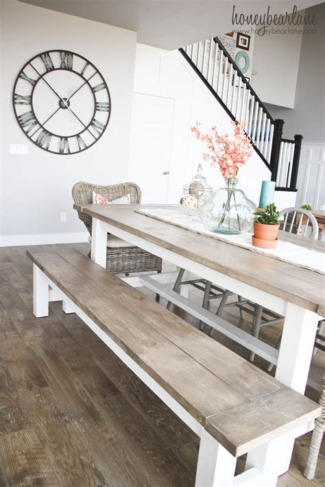 Diy Farmhouse Table Benches