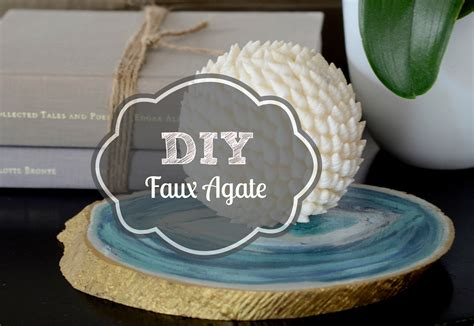 Diy Faux Agate Table