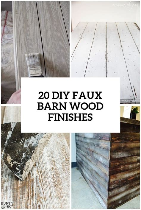 Diy Faux Barnwood With Paint