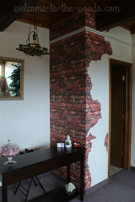 Diy Faux Brick And Plaster Walls
