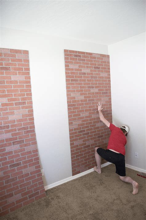 Diy Faux Brick Wall Pinterest