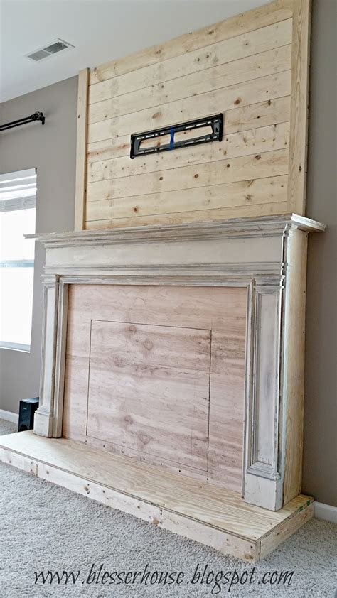 Diy Faux Fireplace Blesser