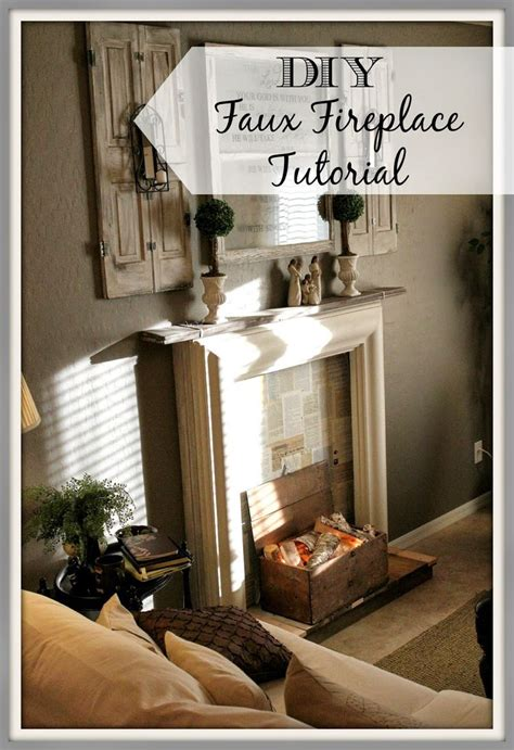 Diy Faux Fireplace Instructions