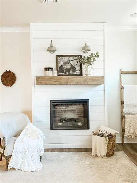 Diy Faux Fireplace With Shiplap