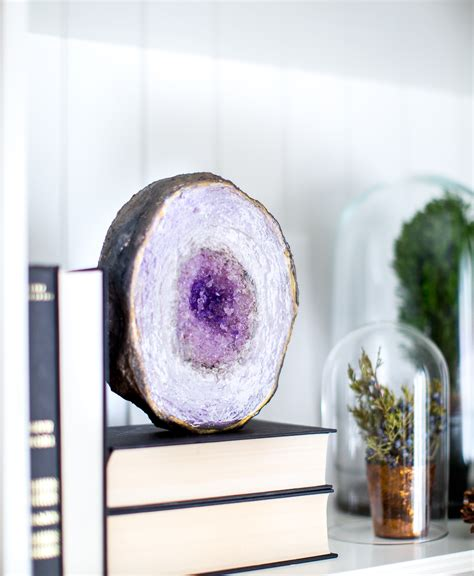 Diy Faux Geode Table