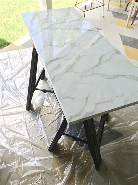 Diy Faux Marble Finish