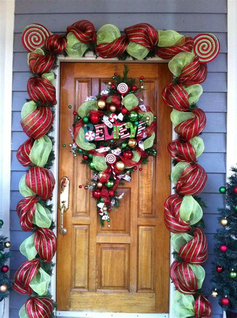Diy Faux Outdoor Door Decor
