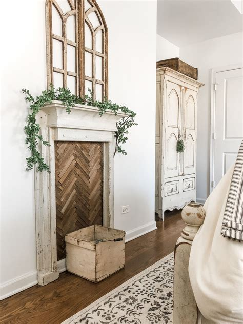 Diy Faux Wood Mantel