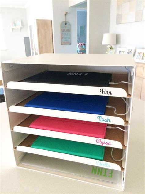 Diy File Cabinet Charging Station Ipad