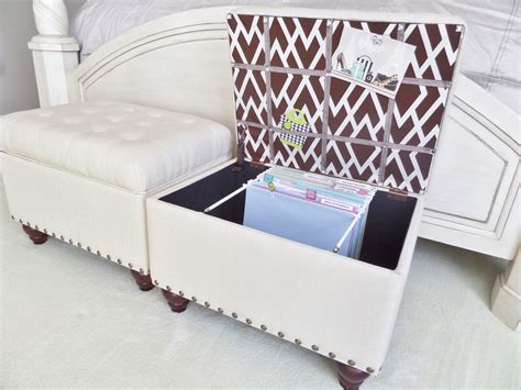 Diy File Storage Ottoman