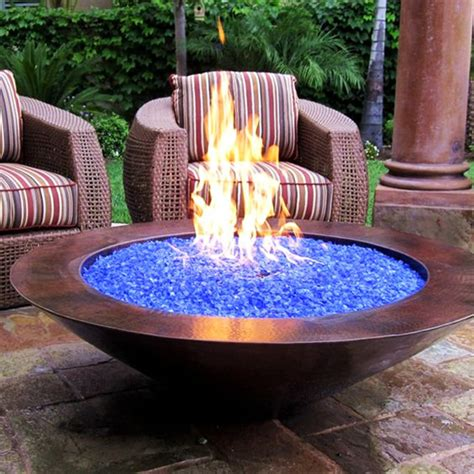 Diy Fire Pit Glass And Wood
