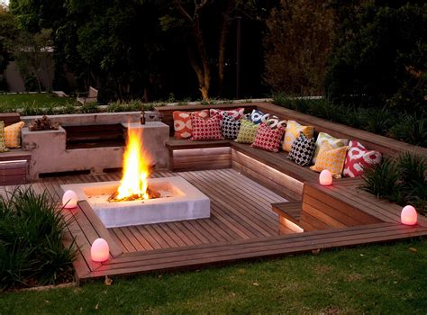Diy Fire Pit On Wood Deck