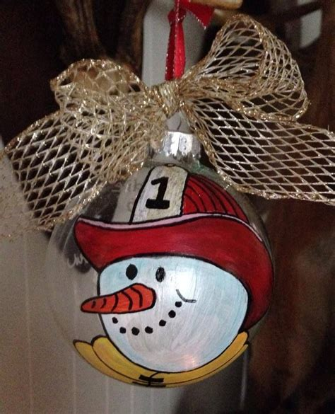 Diy Firefighter Christmas Ornament