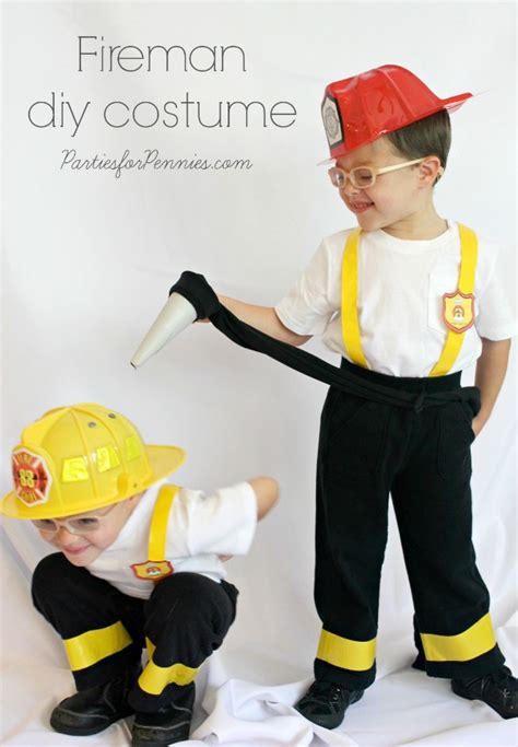 Diy Firefighter Costume For Toddler