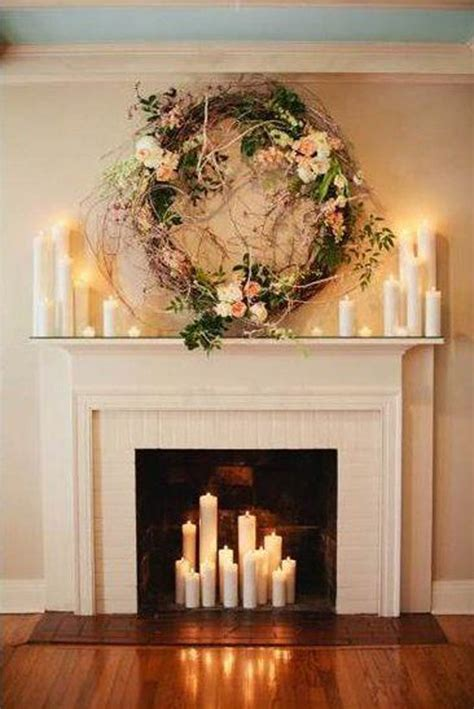 Diy Fireplace Decor With Candles