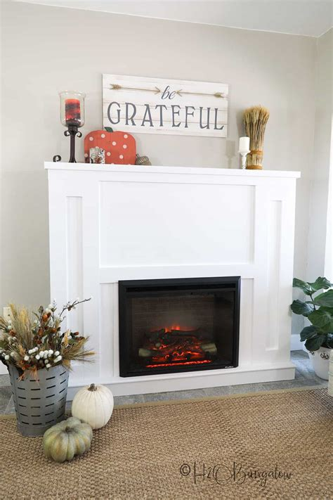 Diy Fireplace Insert Surround