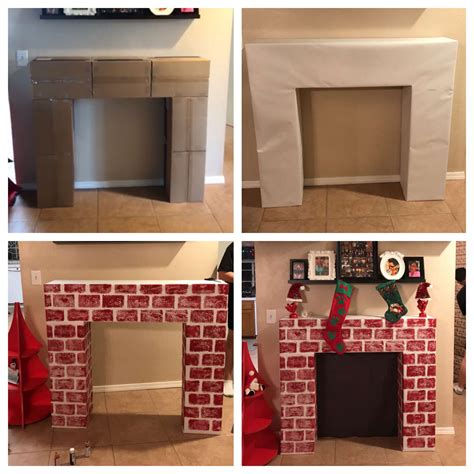 Diy Fireplace Made Of Boxes
