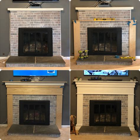 Diy Fireplace Mantel Over Existing