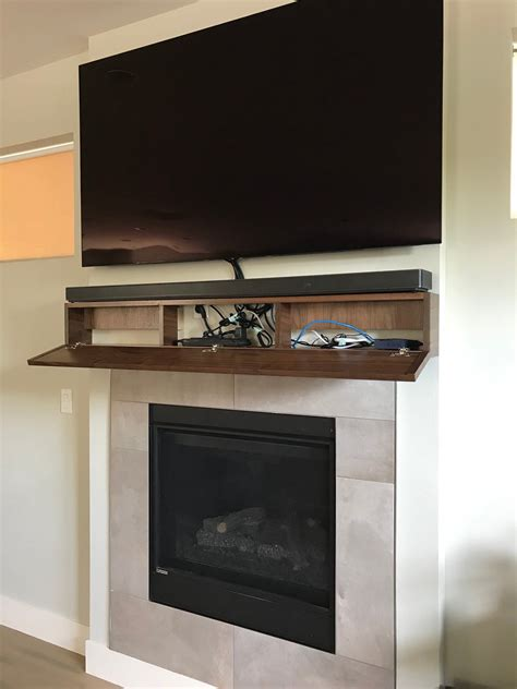 Diy Fireplace Mantel With Hidden Component