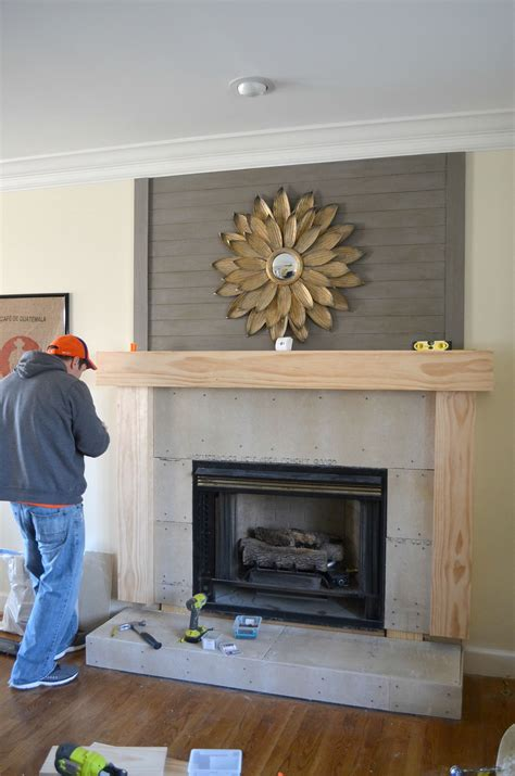 Diy Fireplace Surround Makeover