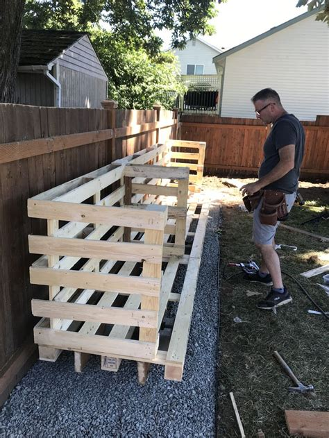 Diy Firewood Rack With Pallets