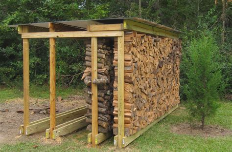 Diy Firewood Rack With Roof