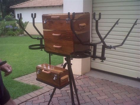 Diy Fishing Box Stand For Sale