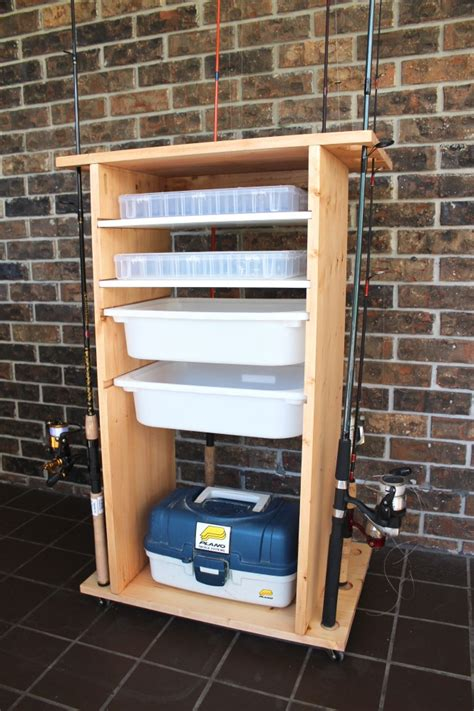 Diy Fishing Storage Box Cabinet