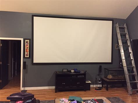 Diy Fixed Frame Projection Screen