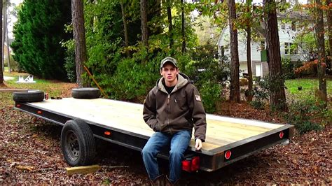 Diy Flatbed Trailer From Boat Trailer