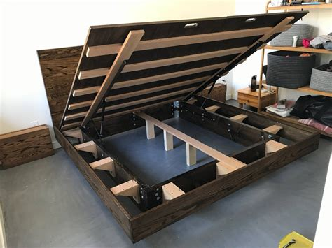 Diy Floating Bed Frame With Storage
