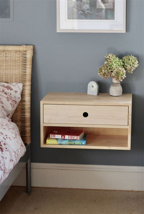 Diy Floating Bedside Table With Drawer