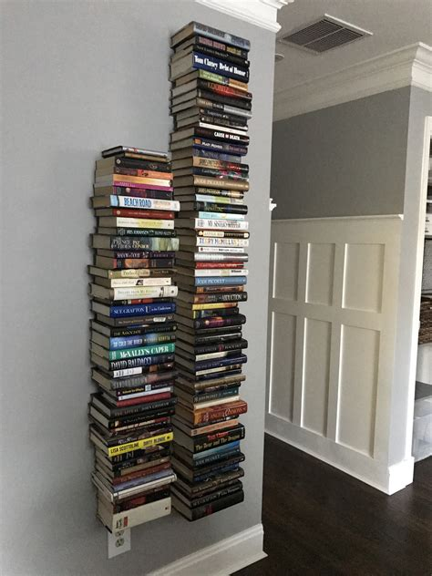 Diy Floating Bookshelf Using Books
