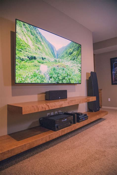 Diy Floating Entertainment Center Wood