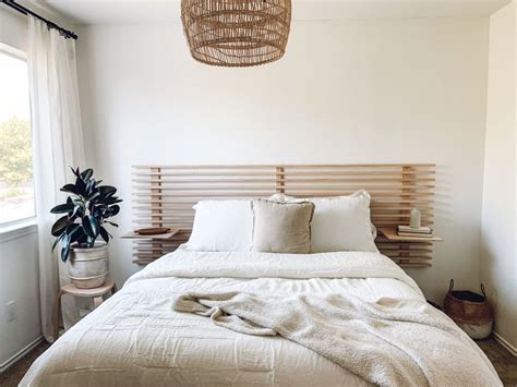 Diy Floating Headboard With Nightstands