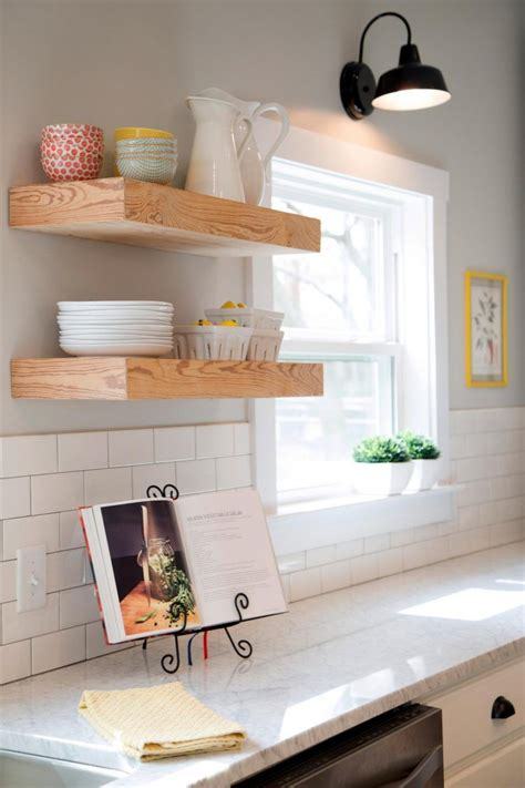 Diy Floating Kitchen Shelving