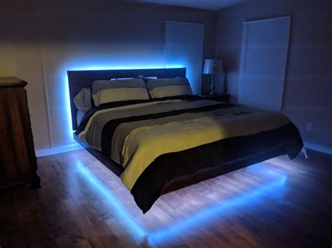 Diy Floating Lighted Bed