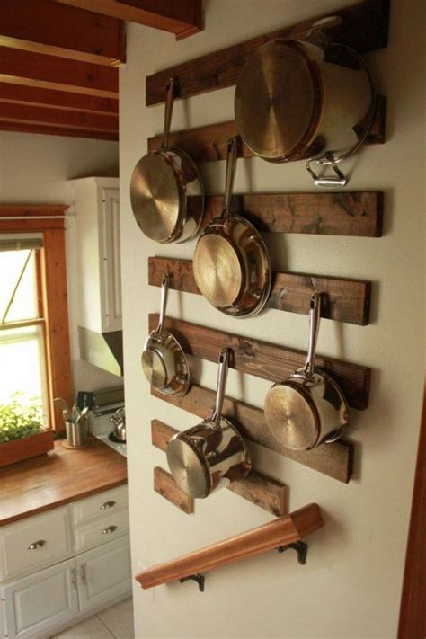 Diy Floating Shelf Pot Rack