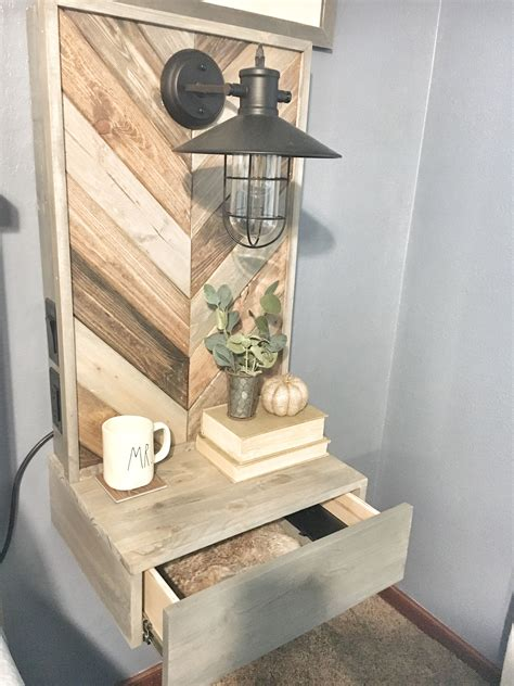 Diy Floating Wood Nightstand