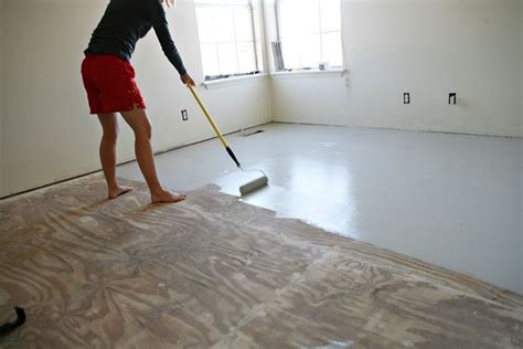 Diy Floor Coating Over Wood Subfloor