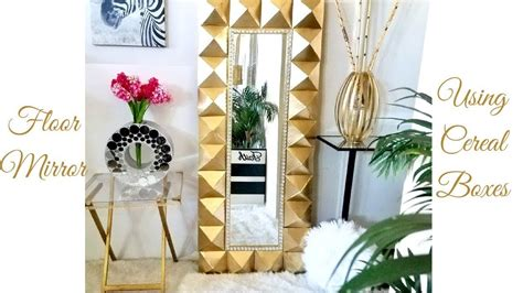 Diy Floor Mirror With Cereal Box
