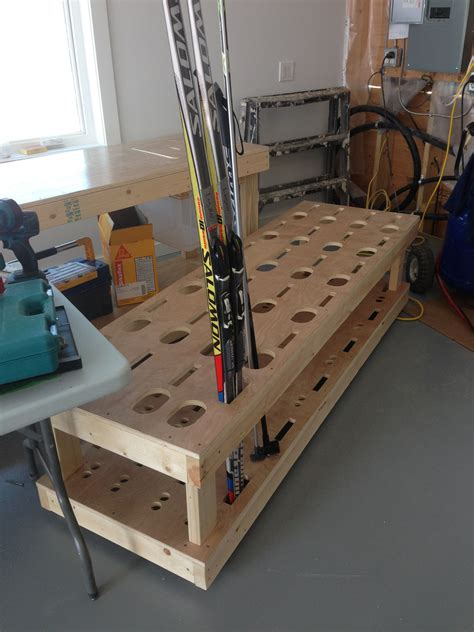 Diy Floor Ski Rack