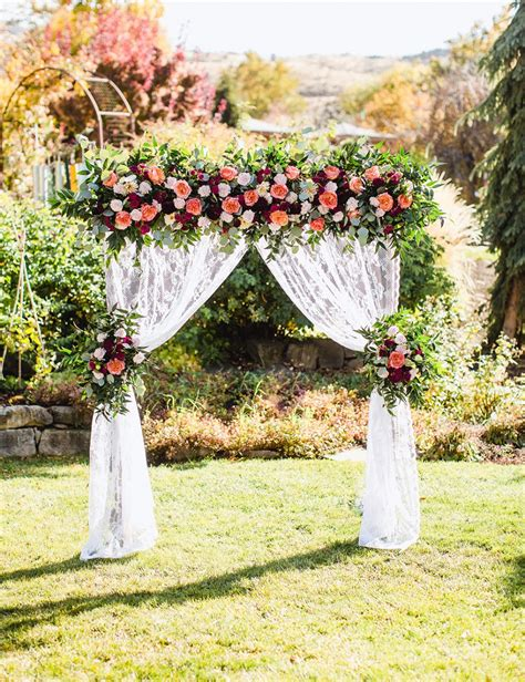 Diy Floral Wedding Arbor