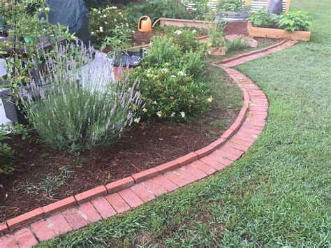 Diy Flower Bed Border Out Of Brick