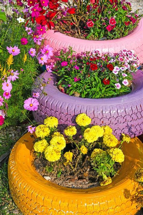 Diy Flower Beds From Tires