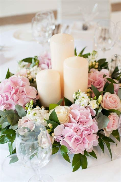 Diy Flower Table Centerpiece White And Pink
