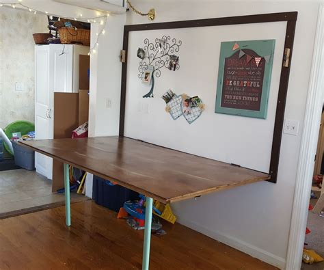 Diy Fold Out Table From Wall